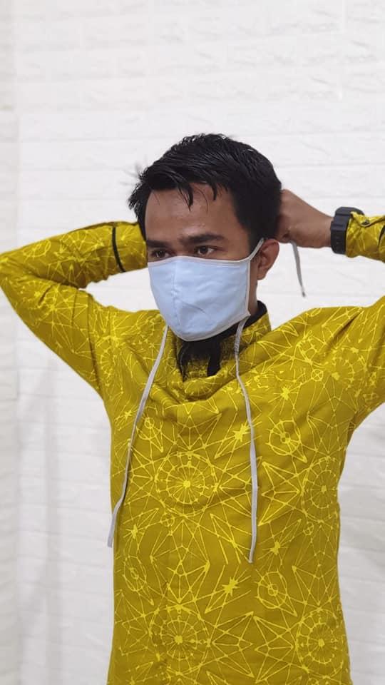 Masker Kain Hijab Tali Sambung Harga Grosir Rp3.500/pcs