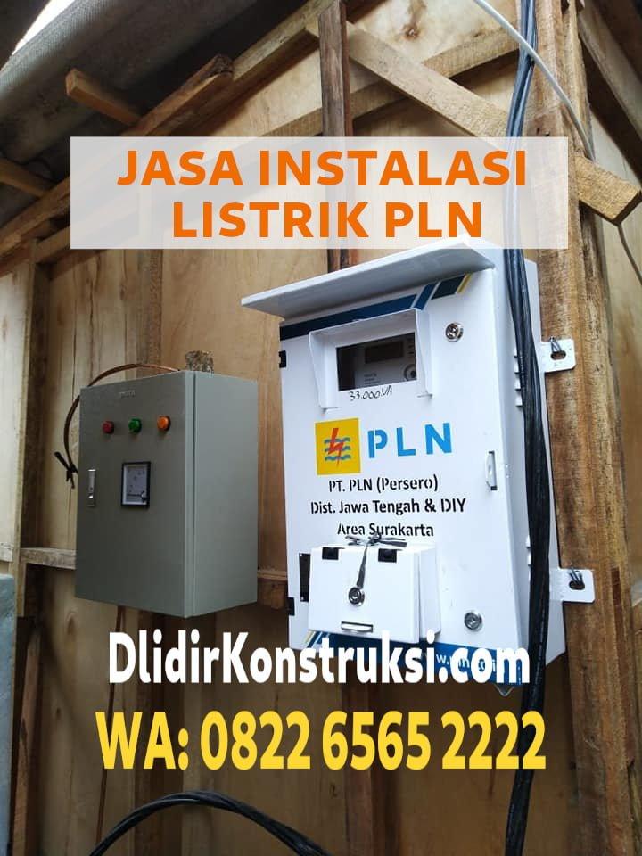 Pemasangan Listrik Baru Area Solo Sesuai Standar Safety PT PLN Persero