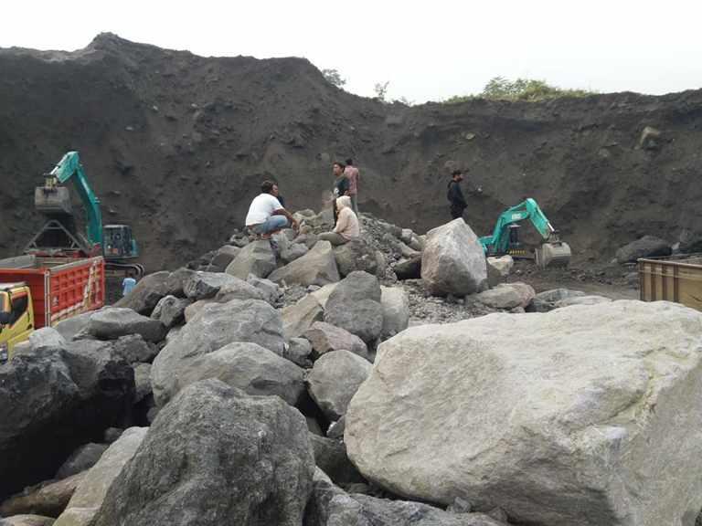 Kandungan silika pada pasir merapi digunakan sebagai beton yang bermutu tinggi